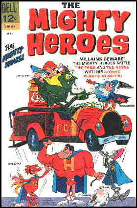 Cover of a 1967 Mighty Heroes comic book.