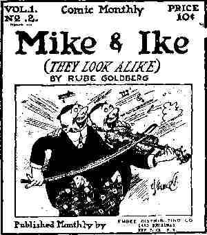 Mike and Ike, from the cover of Comic Monthly #2. Artist: Rube Goldberg.