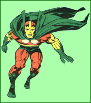 Mr. Miracle in action. Artist: Jack Kirby.