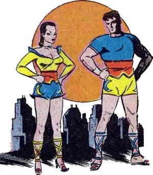 Moon Girl and Prince Mengu. Artist: Sheldon Moldoff.