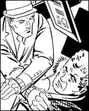 Mr. A righteously thrashes a felon. Artist: Steve Ditko.