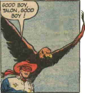 Masked Raider and Talon the Eagle. Artist: Mike Sekowsky.