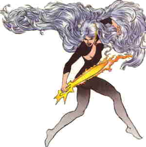 Ms. Mystic looking typically actiony. Artist: Dan Barry.