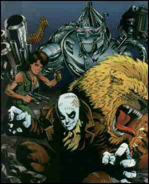 Four identifiable characters, from a 1995 cover. Artist: Sean Shaw.