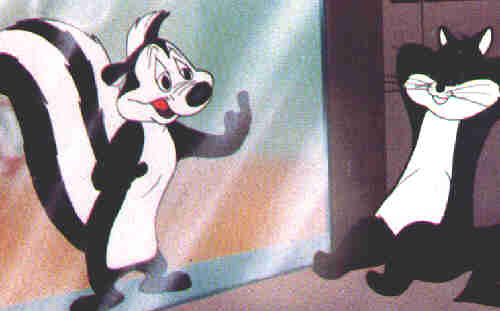 Pepe LePew and quarry, 1949.