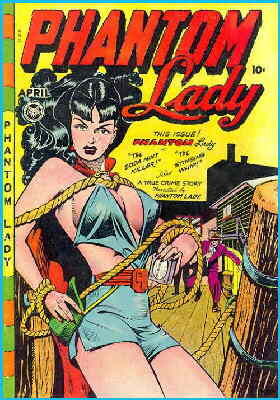 Phantom Lady's most notorious cover. Artist: Matt Baker.