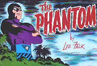 The Phantom: Title panel used in many stories over the years.