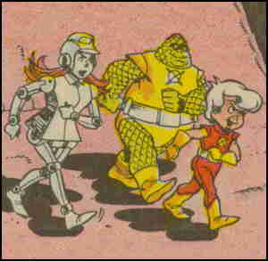 L-r: Robota, Omnus, Terry. Artists: Warren Kremer and Vince Colletta.