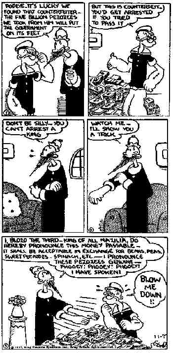 Popeye: A 1931 daily strip.