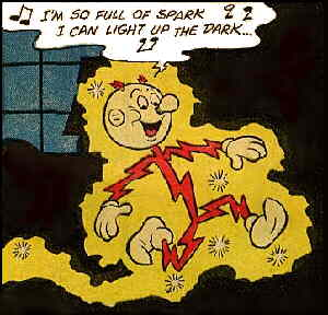 Reddy Kilowatt, from a 1973 comic book.