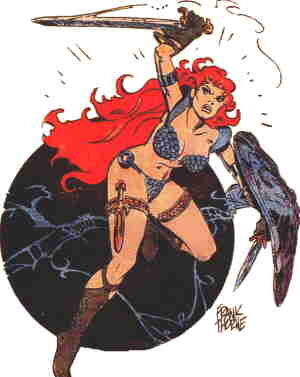 Red Sonja. Artist: Frank Thorne.