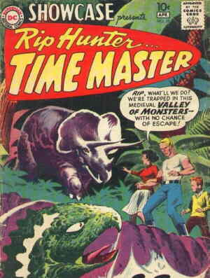 Rip Hunter: Cover of an early appearance. Artist: Joe Kubert.