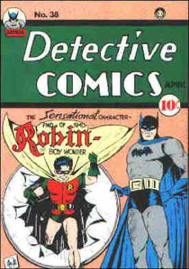 Robin on his introductory cover. Artist: Bob Kane.