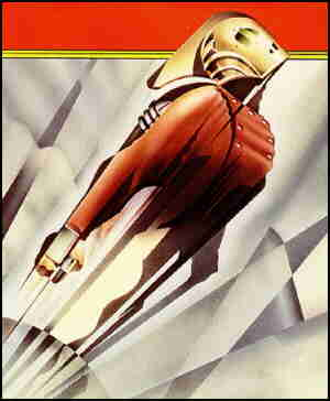 Rocketeer to the rescue! Artist: Dave Stevens.