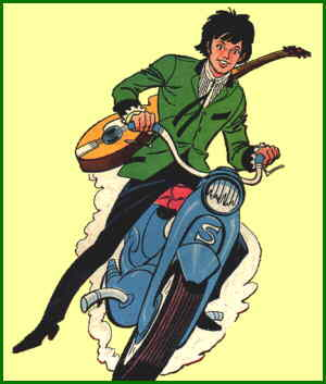 Scooter, from the cover of his first issue. Artist: Joe Orlando.