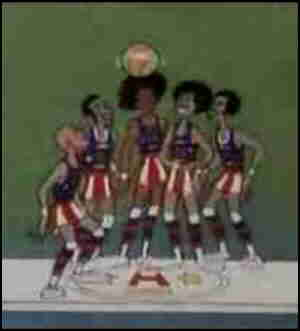 The Super Globetrotters, but in non-super form. From the intro to their show.