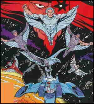 Silverhawks, from the cover of the Marvel comic book.