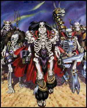 Skeleton villains (the heroes weren't as visual).