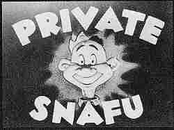 Private Snafu's title card.
