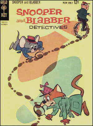 Snooper and Blabber, from a comic book cover.