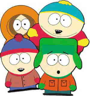 Clockwise from top left: Kenny, Cartman, Kyle, Stan.