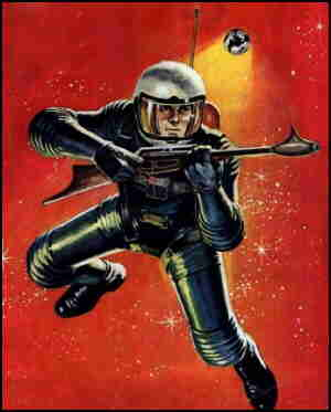 Space Man in space, from the cover of the second issue.