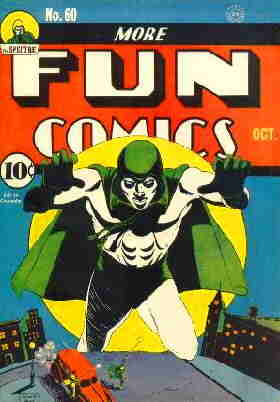 The Spectre, looking typically awesome on a 1940 cover. Artist: Bernard Baily.