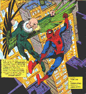 Spider-Man vs. The Vulture. Artist: Steve Ditko.