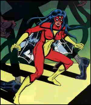 Spider-Woman vs. the deadly Daddy Longlegs. Artist: Brian Postman.