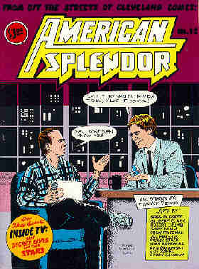 Pekar on Letterman: The cover of 'American Splendor' #12. Artist: Val Mayerik.