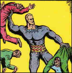 Stardust deals with a bunch of bad guys. Artist: Fletcher Hanks.