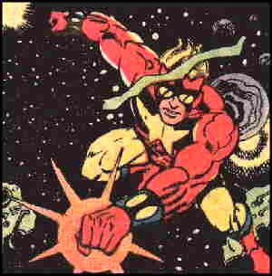 Starman among the stars. Artist: Steve Ditko.