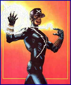 Static poses after getting his powers. Artists:  Denys Cowan and Jimmy Palmiotti.