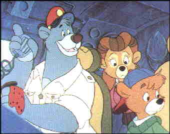 The TaleSpin crew. L-r, Baloo, Rebecca, Kit.