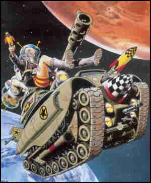 Tank Girl's familiar conveyance in an unfamiliar environment.