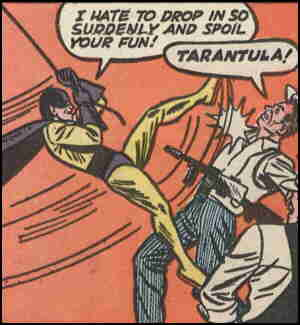 Tarantula hates to spoil anybody's fun. Artist: Harold Sharp.