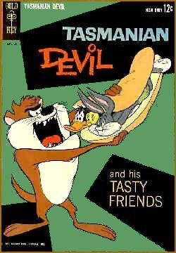 The cover of the only comic book Taz starred in.