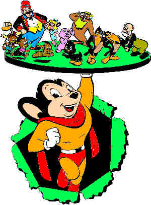 Mighty Mouse serves up a platter of Terrytoons characters.