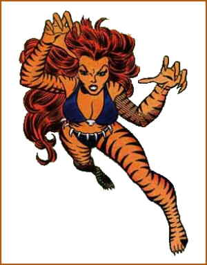 Tigra. Artists: John Romita Jr. and Frank Giacoia.