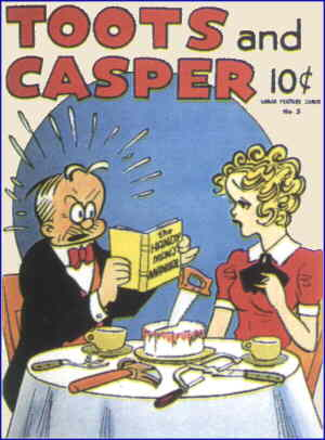 Casper enjoys Toots's cooking. Artist: Jimmy Murphy.