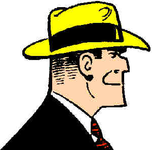 Dick Tracy, circa 1945. Artist: Chester Gould