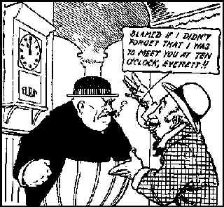 Everett True, about to do his thing. Artist: A.D. Condo.