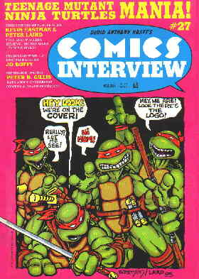 Turtles on a zine covers. Artists: Kevin Eastman & Peter Laird.