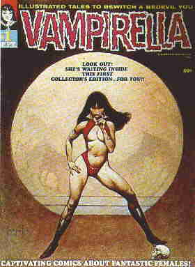 Cover of Vampi's first issue. Artist: Frank Frazetta.