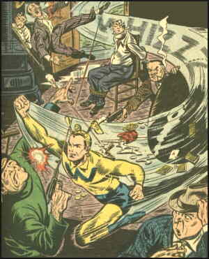 The Whizzer in action. Artists: Al Bellman and Al Fagaly.
