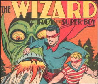 The Wizard and Roy: a 1941 splash panel. Artist: Mort Meskin.
