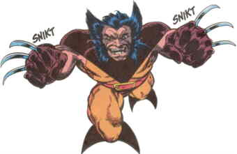 Wolverine in a typical pose.