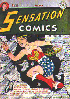 Wonder Woman: A 1947 comic book cover. Artist: Harry G. Peter.