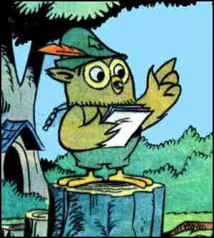 Woodsy in a typical pose, from the Gold Key comic book.