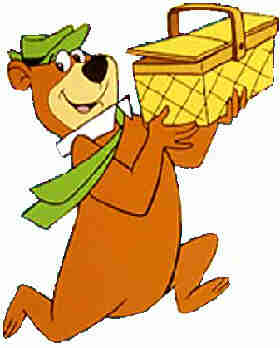 Yogi Bear and his favorite source of sustenance.